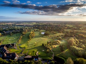 Aerial view of Ufford Park golf course